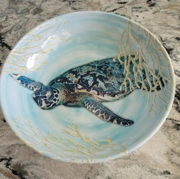 BH&G Melamine Sea Turtle Bowl